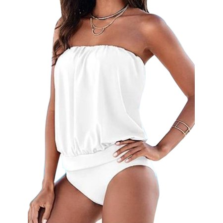 677391a8e2 Sexydance - Women Swimwear Beachwear One-piece Bathing Suit Waist Thong  Swimsuit Plus size Dress - Walmart.com