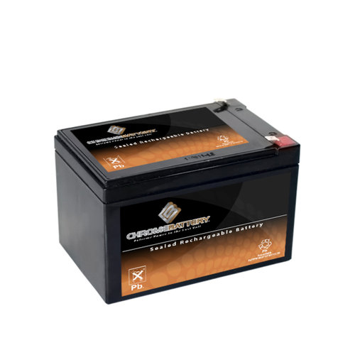 Chrome Battery S00163-00000 12V 14.6AH Sealed Lead Acid Battery - T2 Terminals - for ZB-12-14.6