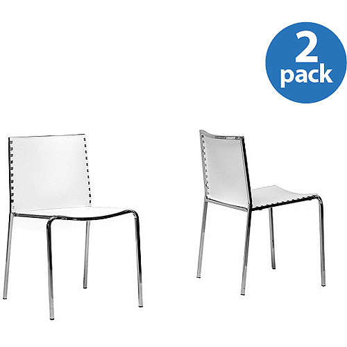 Baxton Studio Gridley Modern Dining Chairs Set od 2 White