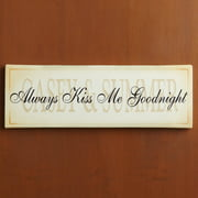 "Personalized ""Always Kiss Me Goodnight"" Canvas Wall D��cor"