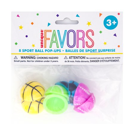 Sports Ball Pop Ups Party Favors, Assorted, - Sports Party Ideas