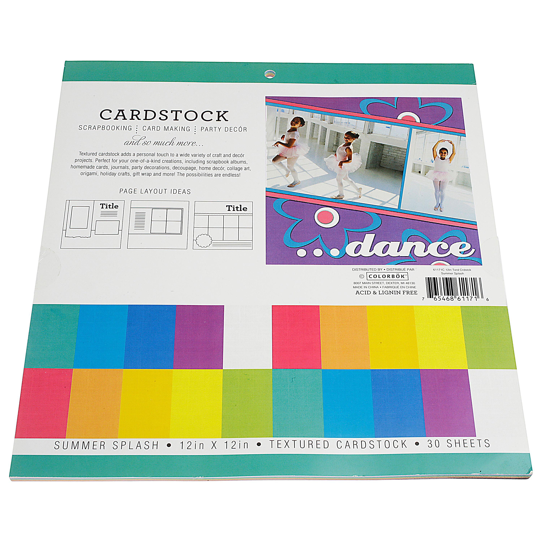 Colorbok 12in Textured Cardstock Summer Splash