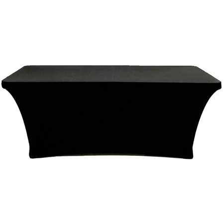 Cb Accessories Stretch Table Cover 4ft Rectangular Fitted Spandex