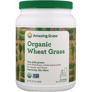 Amazing Grass, Organic Wheat Grass, 1.8 lbs (800 g) (Pack of