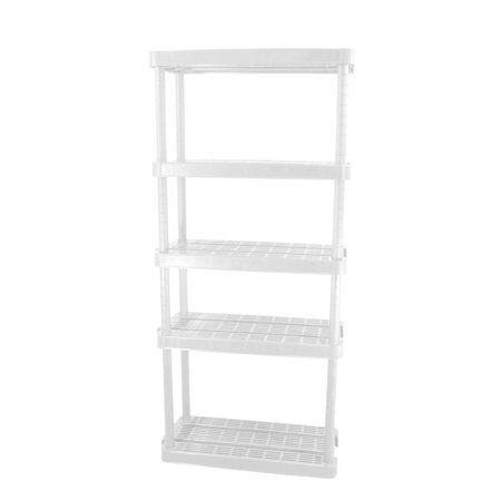 Gracious Living Medium Duty Adjustable Ventilated Storage Shelving Unit, 5 Shelf (Ventilated Shelving Bracket)
