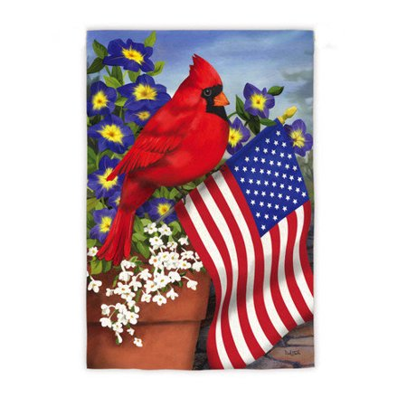 Evergreen Sub Suede Garden Flag - Cardinal Glory ()