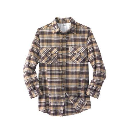 Men's Big & Tall Long-sleeve Plaid Flannel Shirt Big Tall Flannel Shirts