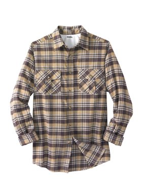 Men's Big & Tall Long-sleeve Plaid Flannel Shirt