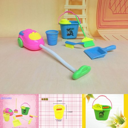 6Pcs Baby Home Furniture Furnishing Cleaning Toy For Exercise Children´s  Housework Ability