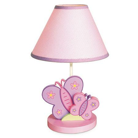 Bedtime originals butterfly kisses lamp with shade - Lamparas para mesitas de noche ...