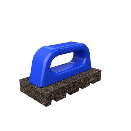 Bon 12-177 Rub Brick - Fluted 6 inch X 3 inch X 1 inch - 20 Grit - Plastic Handle