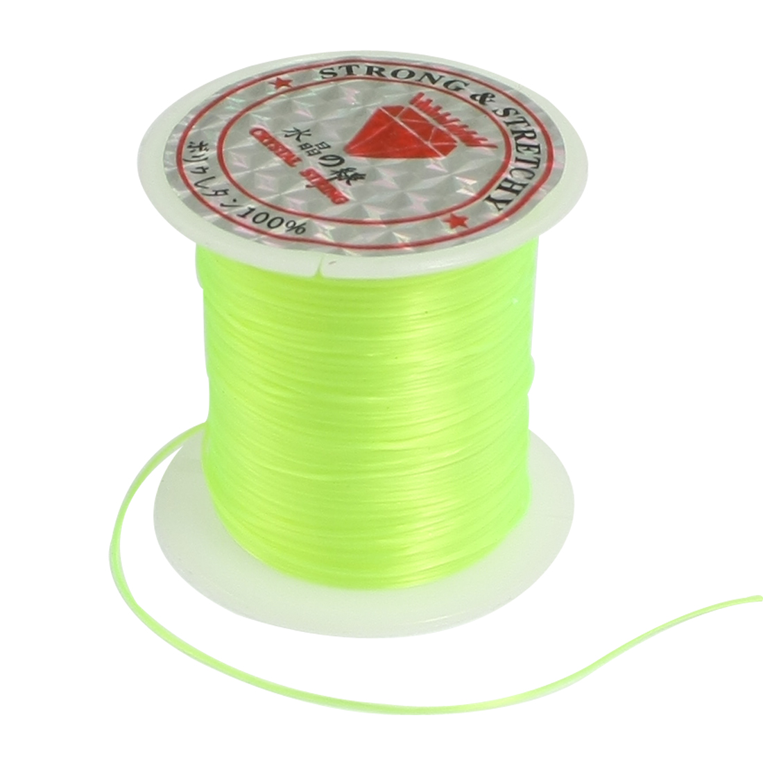 Unique Bargains Unique Bargains Yellowgreen Stretchy Crystal String Cord Jewelry Beading Thread Spool 9M 29.5 Ft