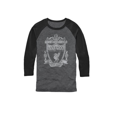 Unisex Soccer Football 3/4-Sleeve T-Shirt - Liverpool FC The Reds - LG (Soccer Football Shirt)