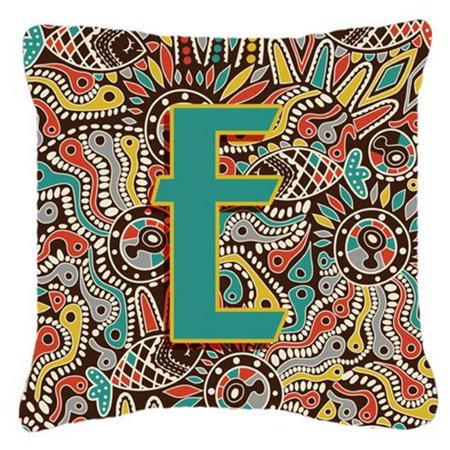 Carolines Treasures CJ2013-EPW1818 Letter E Retro Tribal Alphabet Initial Canvas Fabric Decorative Pillow - image 1 of 1