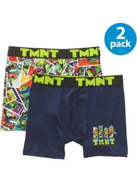 Nickelodeon Teenage Mutant Ninja Turtles TMNT, Boys Underwear, 2 Pack Boxer Briefs (Little Boys & Big Boys)