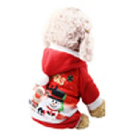 Pet Cat Santa Costume Clothes Puppy Dog Christmas Xmas Winter Hoodie Jumper ()