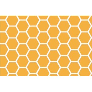 SheetWorld Fitted Fitted Oval Crib Sheet (Stokke Sleepi) - Mustard Yellow Honeycomb