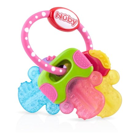 Nuby Icybite Keys Perfectly Pink Teether Walmart Com
