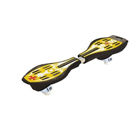 Skateboard Truck Parts - Ripstik Caster Board - Radically Intense Acceleration Waveboard with 360 Degree Caster Trucks and Anti Slip Concaved Platform for Kids Ages 8 and Up | Portable Lightweight Skateboard - Yellow