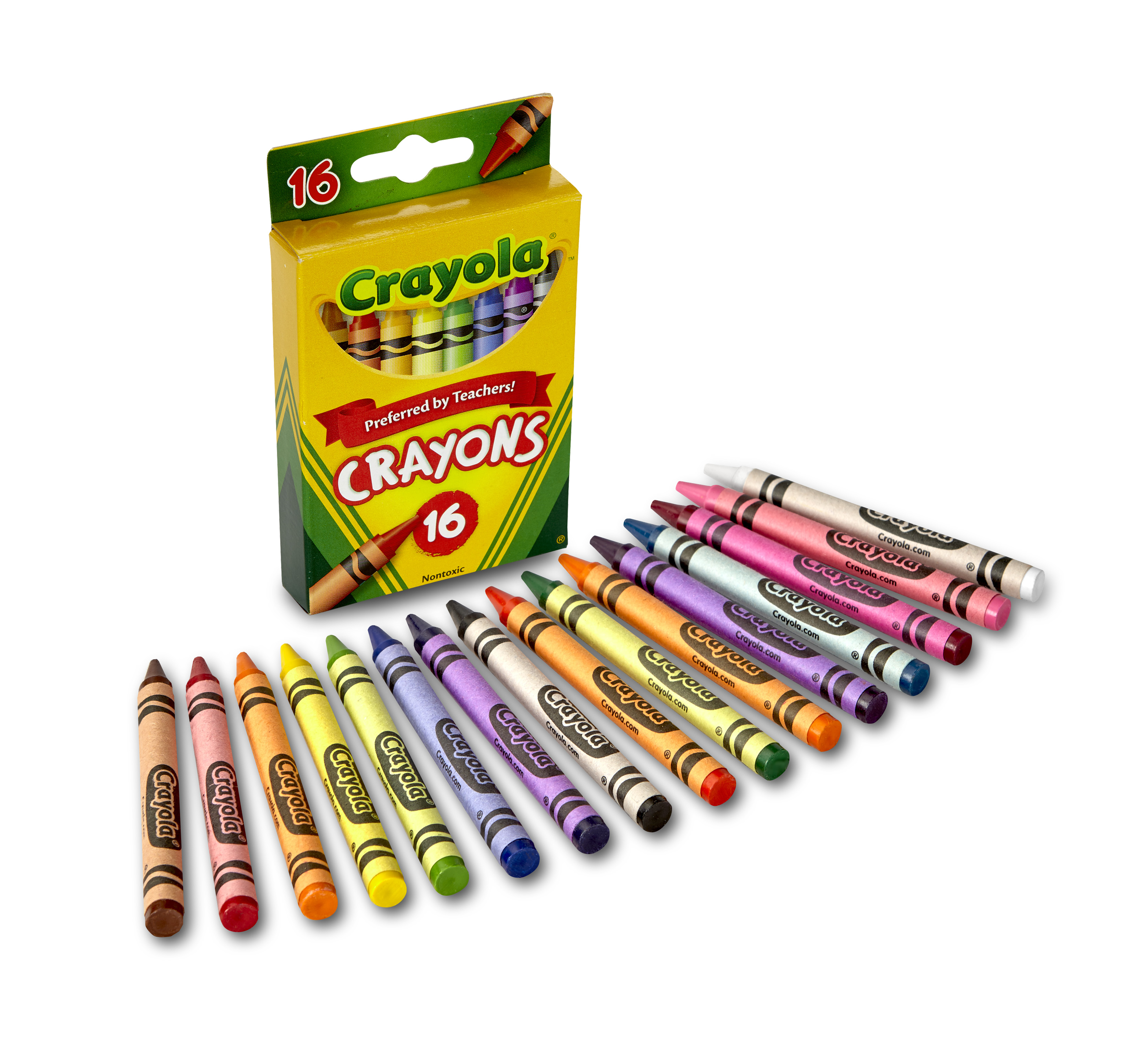 (5 Pack) Crayola classic crayons 16 count perfect for back-to-school