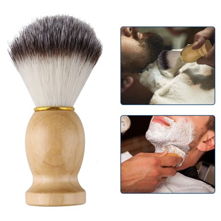 Shaving Brush, Hand Crafted Shaving Brush with Hard Wood Handle, Men's Luxury Professional Hair Salon Tool for Safety Razor, Double Edge Razor, Staight Razor or Shaving (Best Razer Hands)