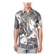 Tasso Elba Mens Tuscon Floral SS Button Up Shirt