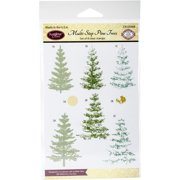 """JustRite Papercraft Clear Stamps 4""""X6""""-Multi-Step Pine Trees"""