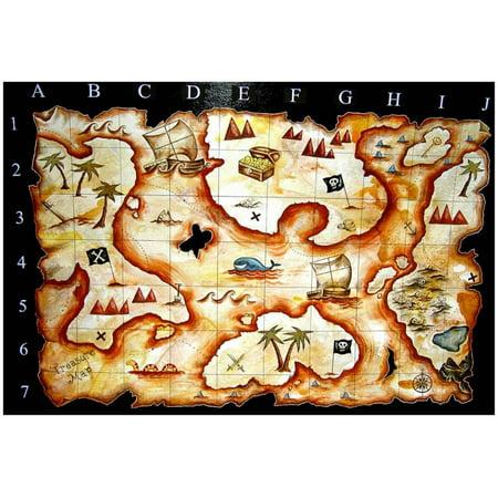Treasure Map Poster By prawny - 19x19