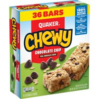 Quaker Chewy Granola Bars, Chocolate Chip (36 Pack)