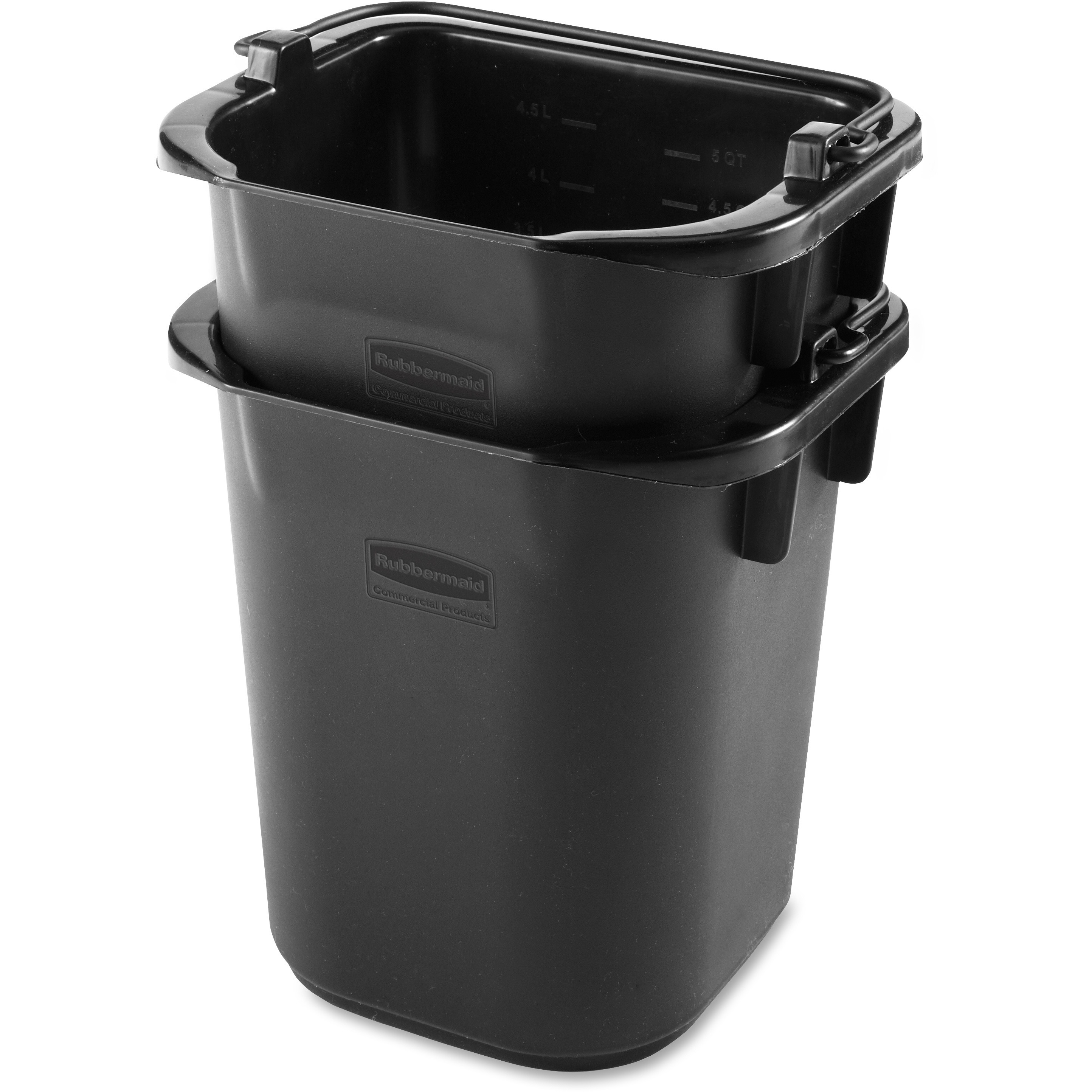 Rubbermaid Commercial, RCP1857378, Executive 5-quart Heavy-duty Pail, 1 Each, Black
