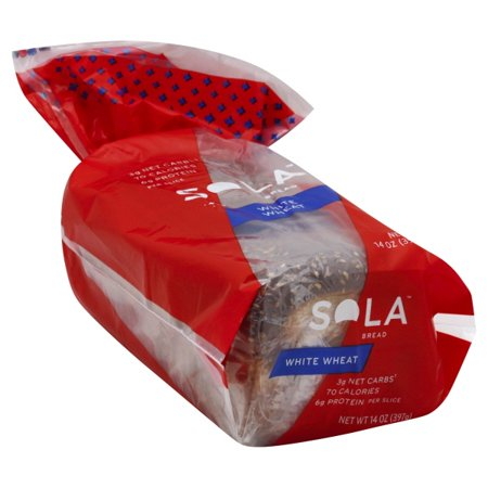 SOLA Golden Wheat Low Carb Sandwich Bread Loaf: Sola Thin Sliced, High Protein Whole Bread Loaf - Healthy Grain Groceries and Light Foods for Low Carb Diets, Modified Keto Plans - 14 Ounces ()