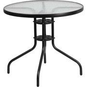 flash furniture 315 round tempered glass metal table. Interior Design Ideas. Home Design Ideas