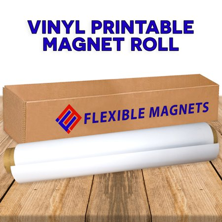 Flexible Vinyl Magnet Sheeting Roll-Super Strong,Many Sizes &Thickness- Commercial Inkjet Printable (2 ft x 1 ft x 15 mil)