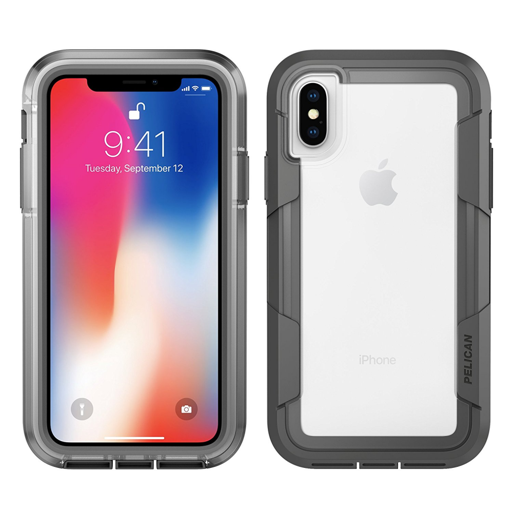 Pelican Voyager Case for Apple iPhone X - Clear/Gray