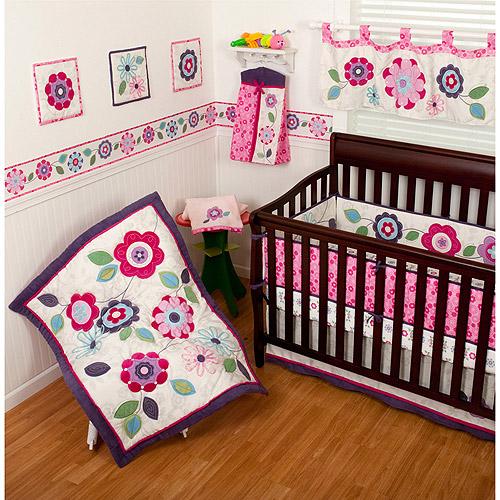 Sumersault Daniela 4-Piece Crib Bedding Set