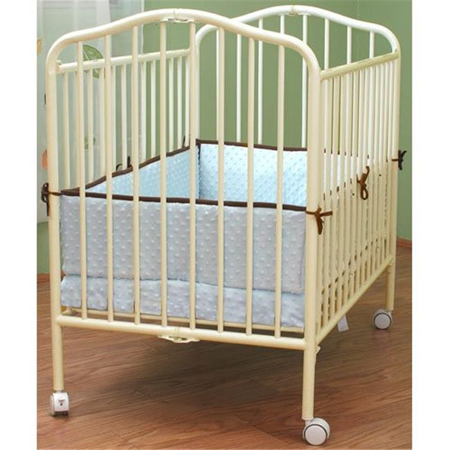 L A Baby Portable Crib Vanilla by Mobile Baby