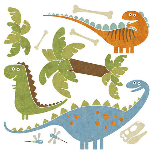 4 Walls Dino Might Accent Wall Decal