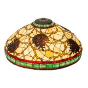 Meyda Tiffany 40352 Tiffany/Mica Shade from Pinecone collection in Multi finish, 22.00 inches