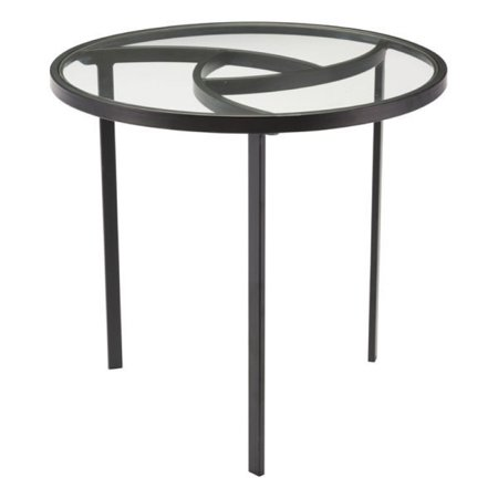 End Tables Living Room Round Decorative Furniture Accent Side Black