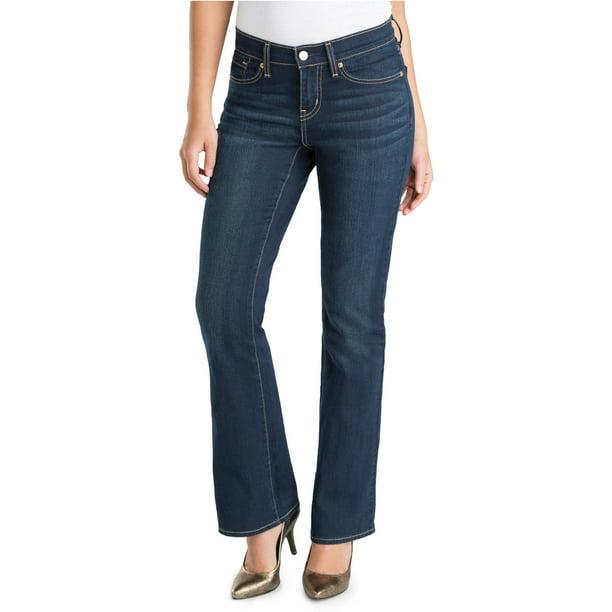Signature By Levi Strauss Co Women S Curvy Bootcut Jeans Walmart Com Walmart Com