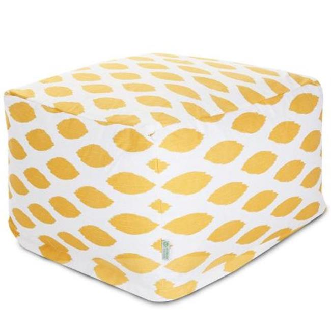 Majestic Home Yellow Alli Large Ottoman