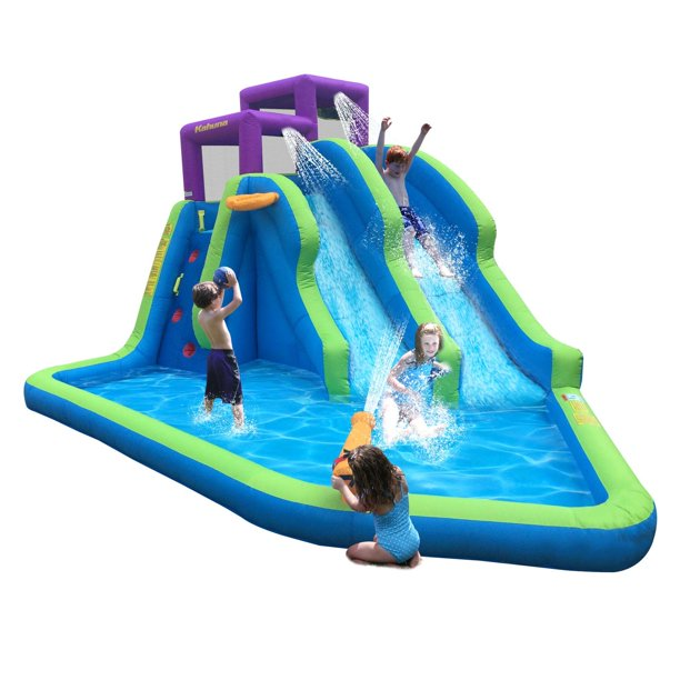Kahuna Twin Falls Outdoor Inflatable Splash Pool Backyard ...