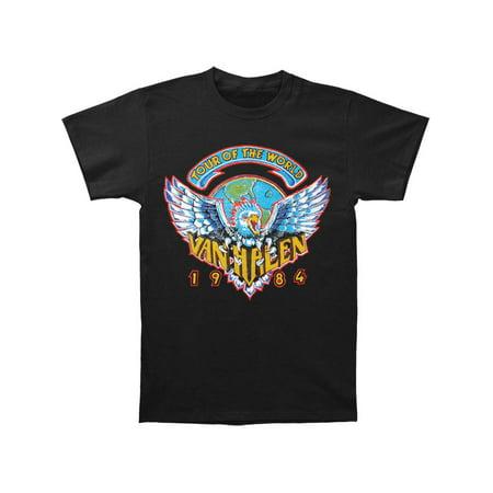 Van Halen Men's  Tour Of World 1984 T-shirt Black Dries Van Noten Men Shirts