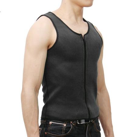 Men Body Shaper Slimming Waist Corset Belly Wrap Top Sport Fat Burner Sauna  - image 4 de 6