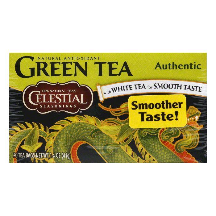Celestial Seasonings Green Tea Authentic, 20 BG (Pack of 6)