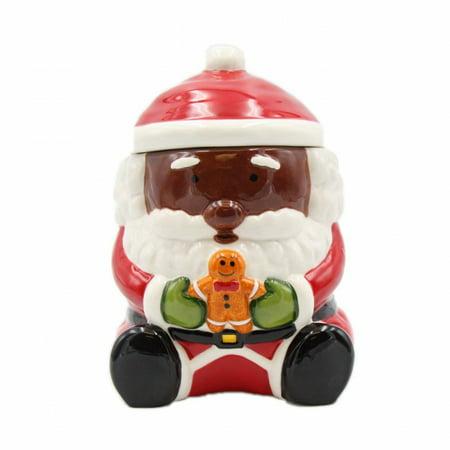 - African American Santa Cookie Jar
