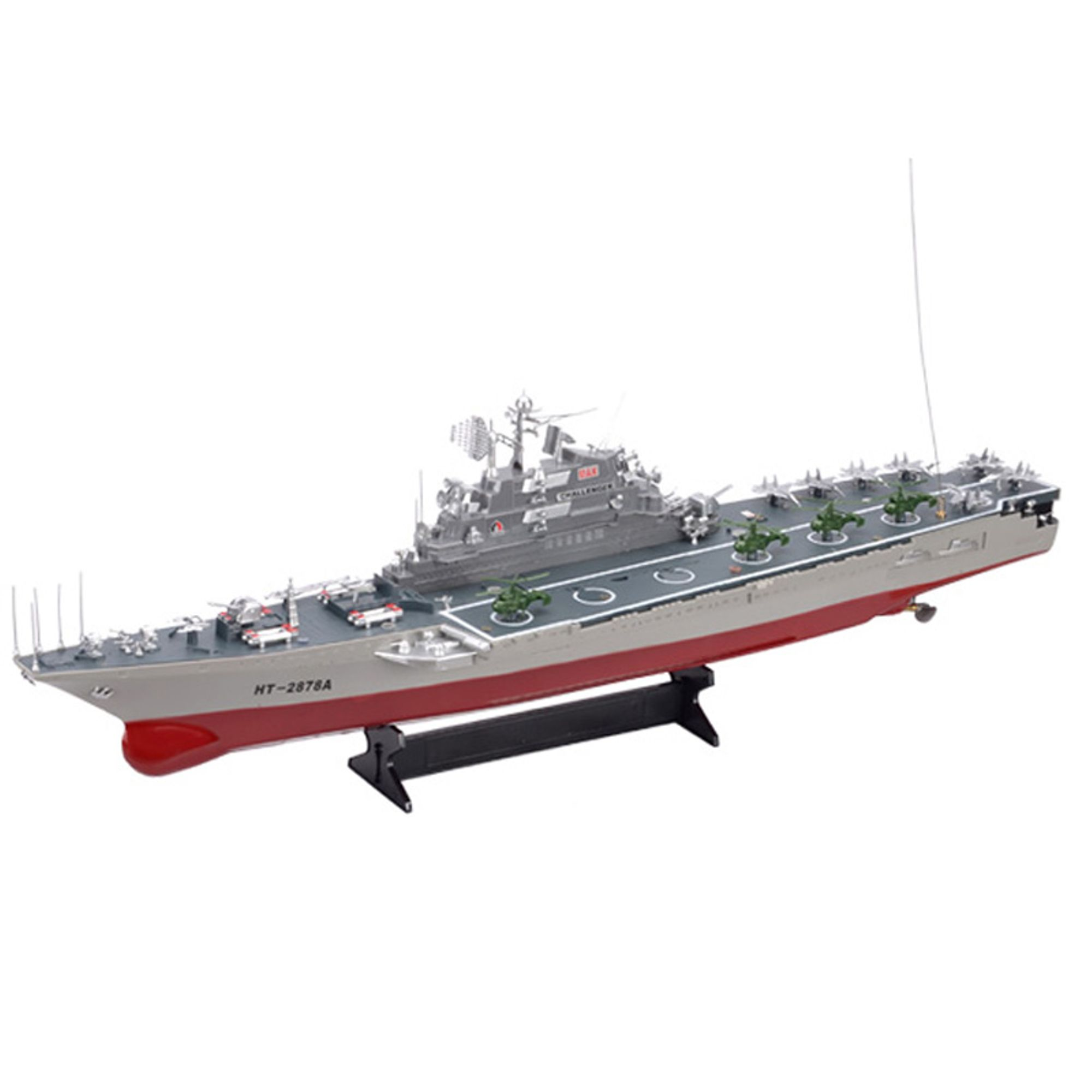 "30"" HT-2878 R C Large Warship Military Battleship Challenger Boat with Two Very Fast Motors Radio... by"