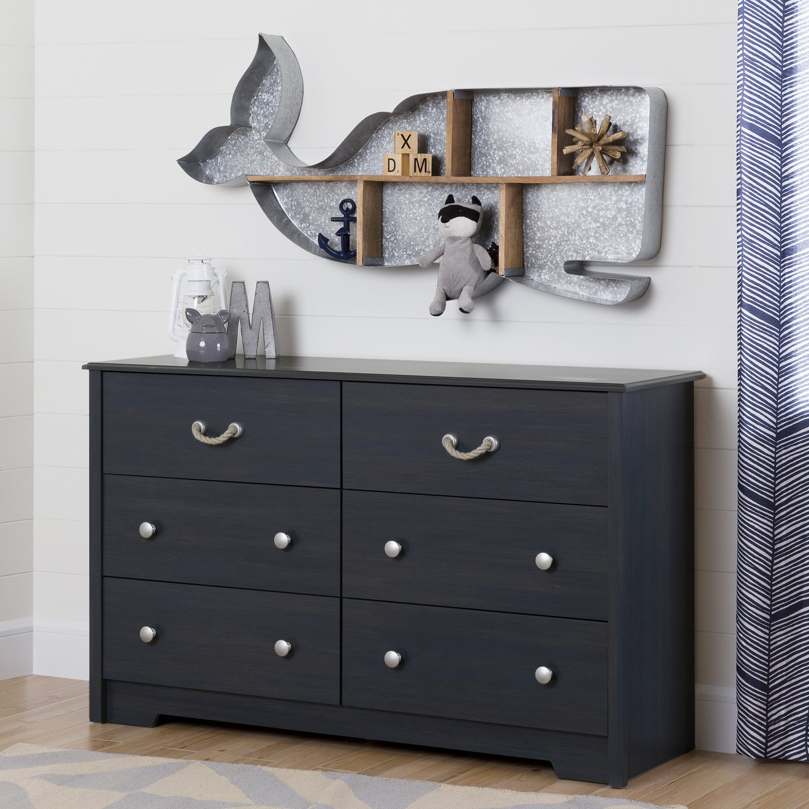 South Shore Aviron 6-Drawer Double Dresser, Blueberry by South Shore