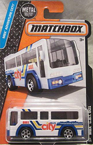 Matchbox, 2016 MBX Adventure City, MBX CBT 801 City Bus [White] #22 125 by Mattel