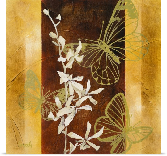 Great BIG Canvas   Rolled Lanie Loreth Poster Print entitled All-a-Flutter I